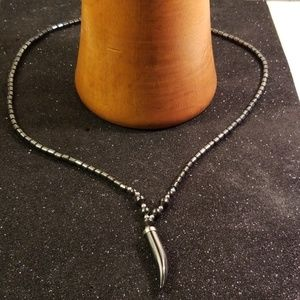 Other - Men Gray Horn shape hematite necklace
